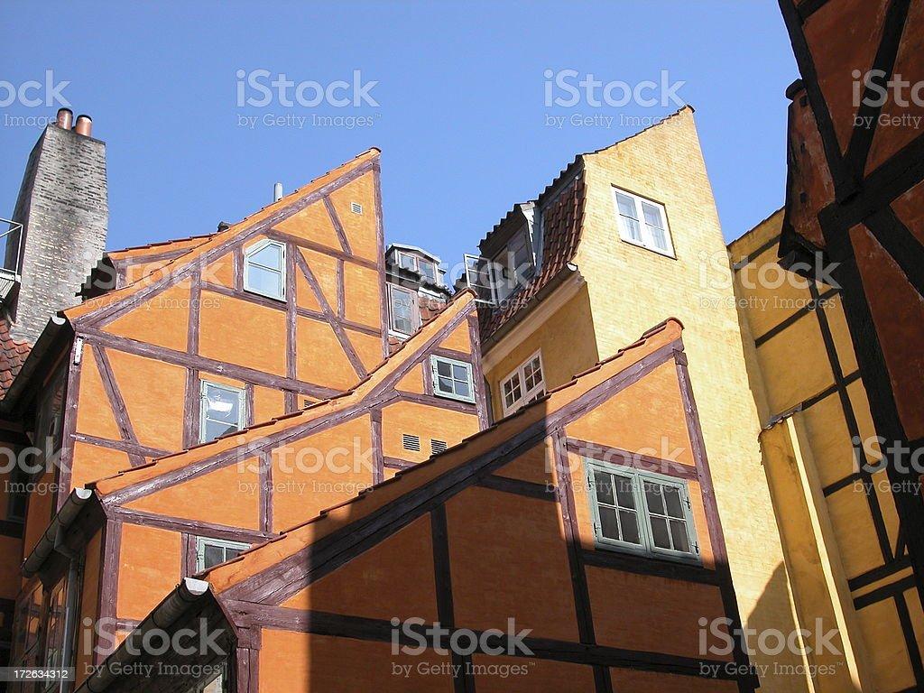 old houses in Copenhagen 3 royalty-free stock photo