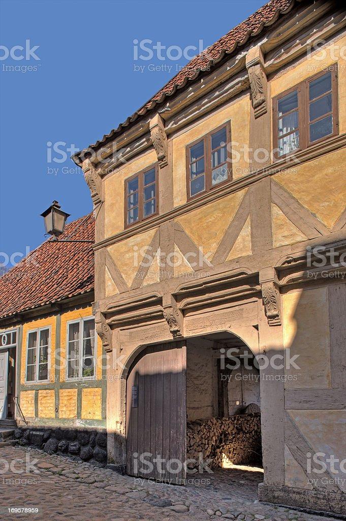 Alte Häuser in Dänemark – Foto