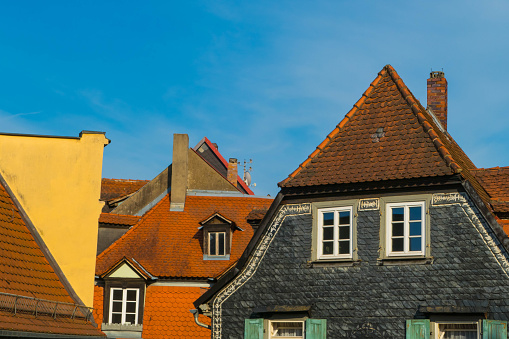 Old Houses in Downtown of Bamberg Germany