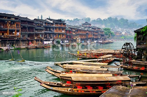 istock Old houses in Fenghuang county in Hunan, China. 958028860