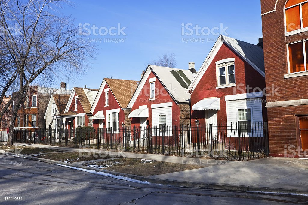 Old Houses in Humboldt Park, Chicago royalty-free stock photo