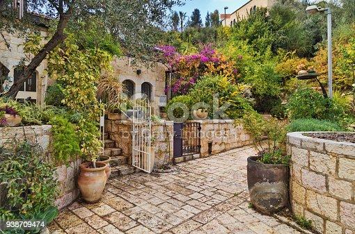 old house in Yemin Moshe district, Jerusalem, Israel