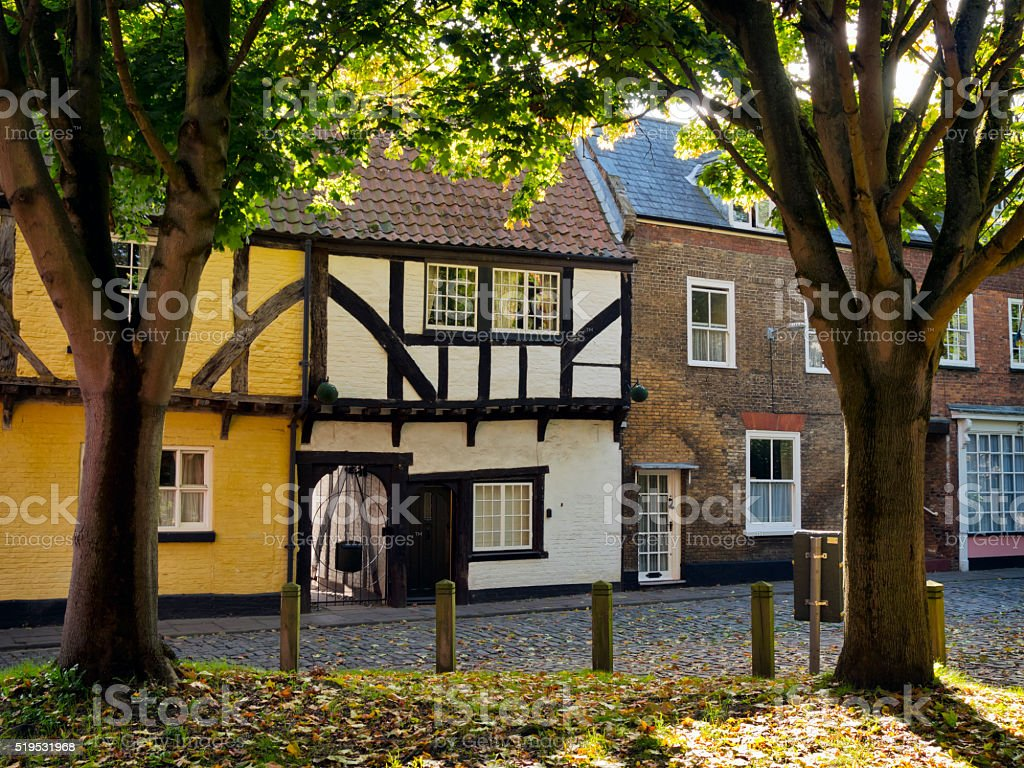 Old houses in King's Lynn stock photo