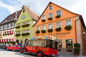 istock Old houses in Rothenburg ob der Tauber, picturesque medieval city in Germany, famous UNESCO world culture heritage site, popular travel destination 1203965969
