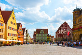 istock Old houses in Rothenburg ob der Tauber, picturesque medieval city in Germany, famous UNESCO world culture heritage site, popular travel destination 1207082723