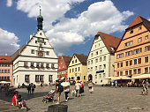 istock Old houses in Rothenburg ob der Tauber, picturesque medieval city in Germany, famous UNESCO world culture heritage site, popular travel destination 1211631971