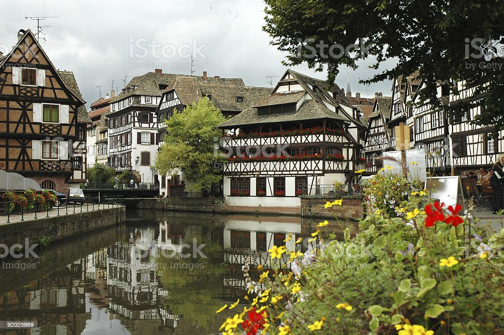 Old Houses in Strasbourg, France royalty-free stock photo