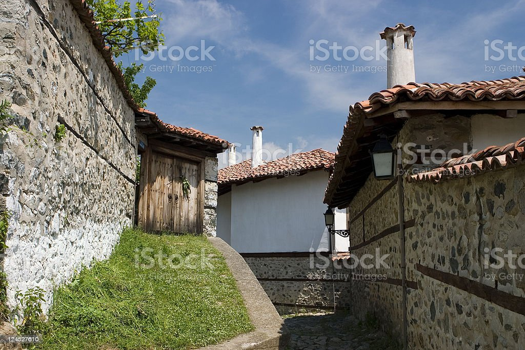 Old houses stock photo