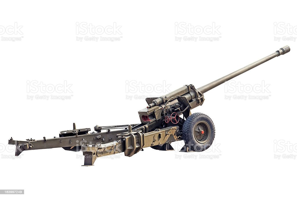 Old Howitzer stock photo