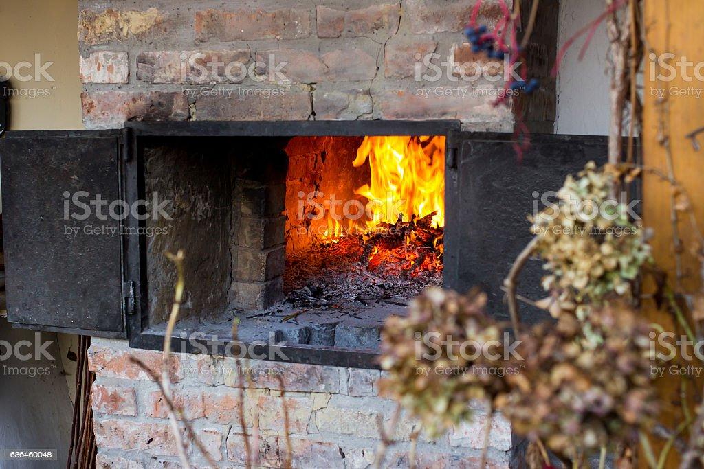 old hungarian furnace stock photo