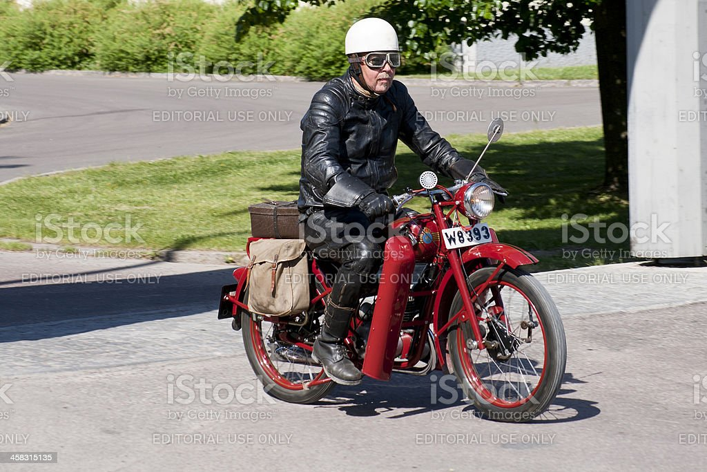 Old Husqvarna motorbike stock photo