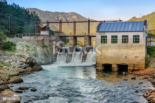 istock Old hydroelectric power station. Chemal, Altai Republic, Russia 881823670