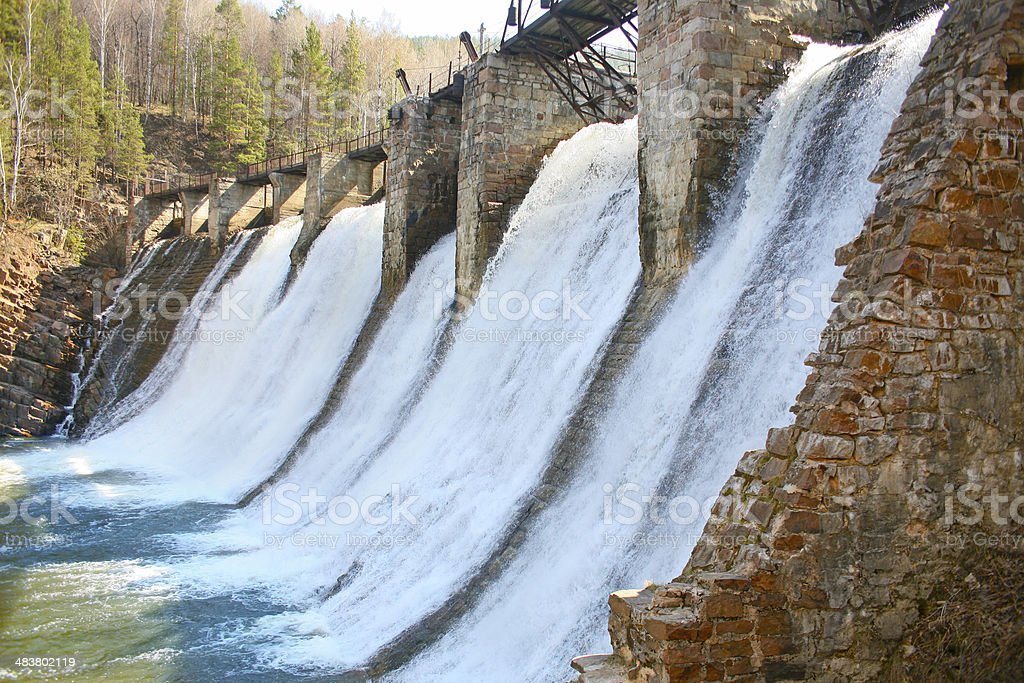 Old hydroelectric power station royalty-free stock photo
