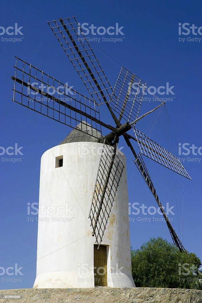 Old Ibiza windmill royalty-free stock photo