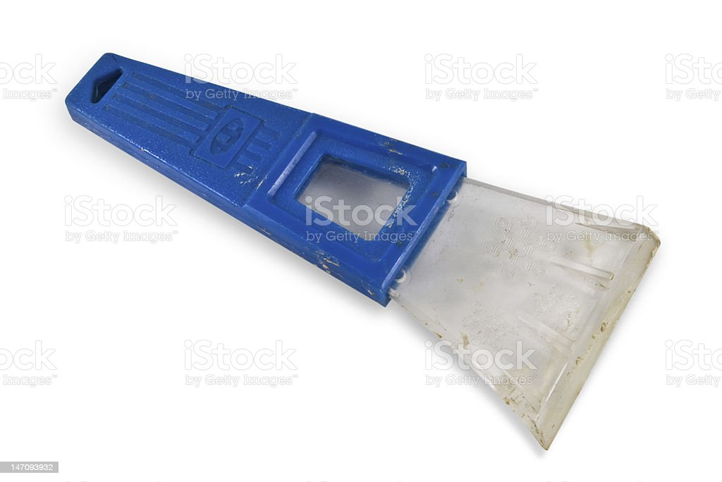 Old Ice Scraper w/Clipping Path royalty-free stock photo