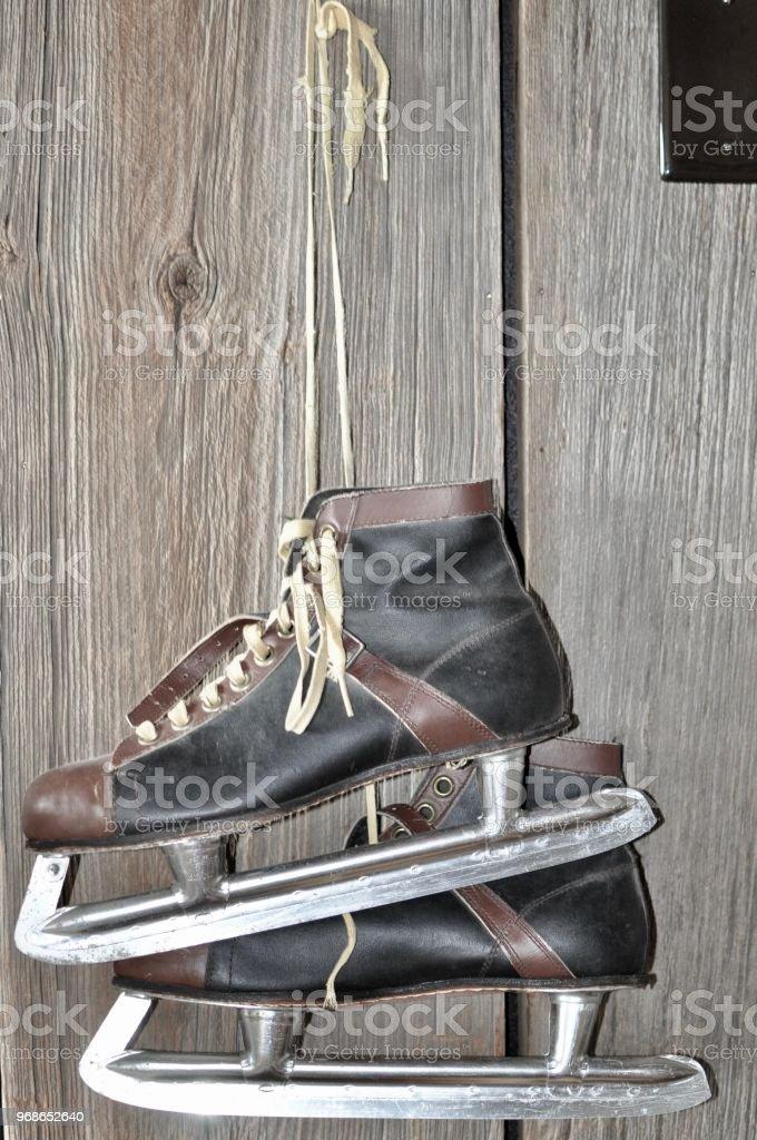 Old Ice Skates stock photo