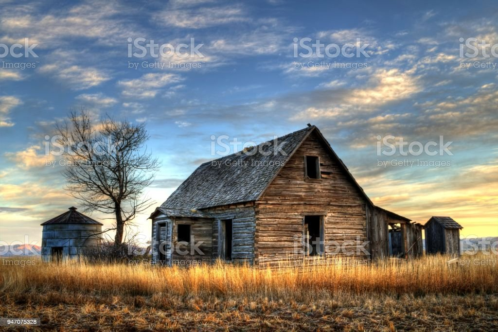 Old Idaho Farm House Stock Photo Download Image Now Istock