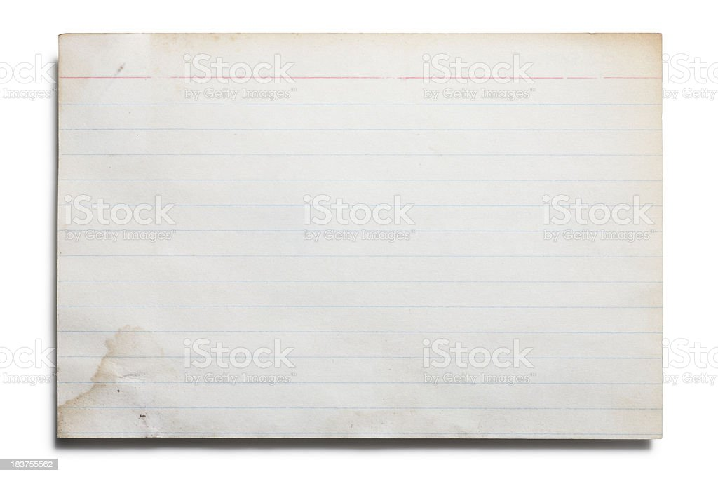 Old Index Card stock photo