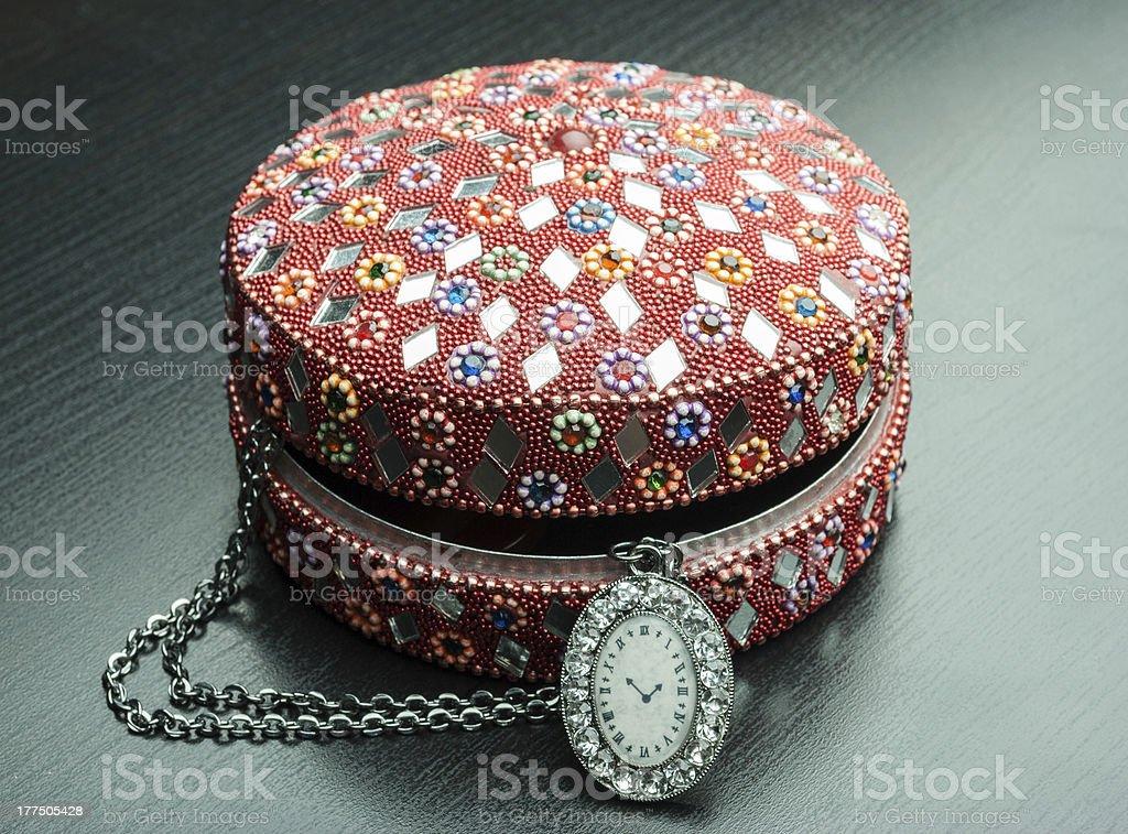Old indian jewelery box. royalty-free stock photo