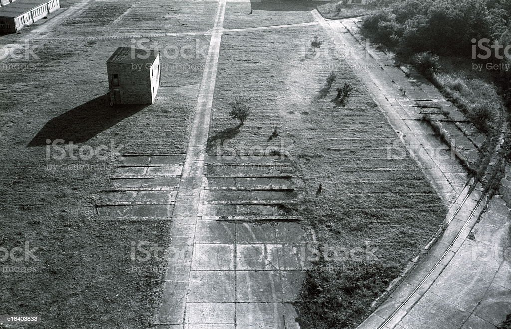 old industrial area of the DDR stock photo