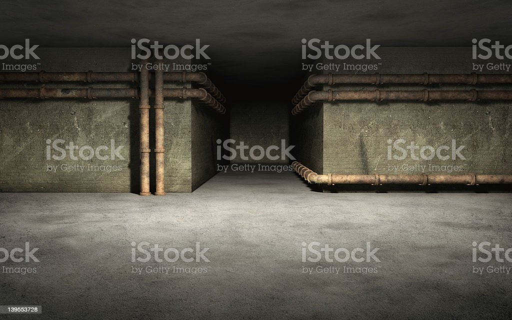 Old Industrial basement background royalty-free stock photo