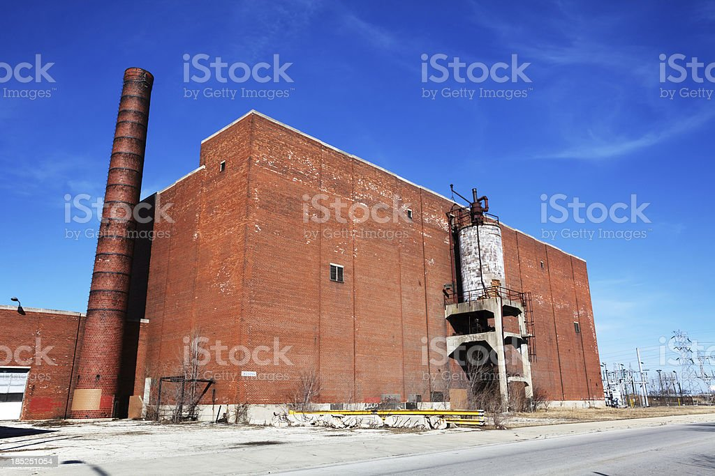 Old  industrial building in Ford City, West Lawn, Chicago royalty-free stock photo