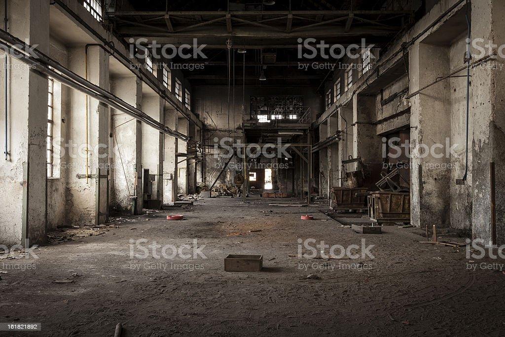 Antigo edifício industrial - foto de acervo