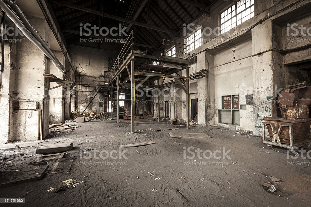 Old industrial building royalty-free stock photo