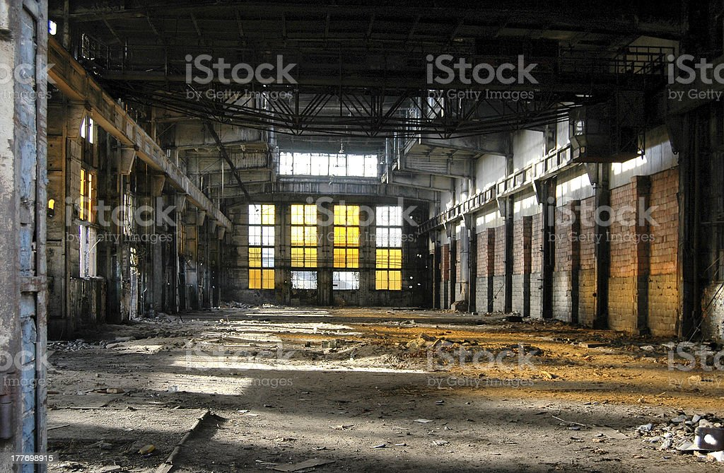 Old industrial building. stock photo