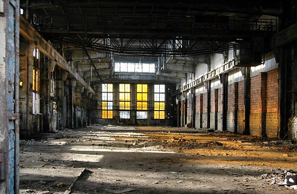 alte industriegebäude. - peeling herstellen stock-fotos und bilder