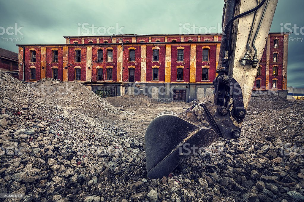 Old Industrial Building stock photo