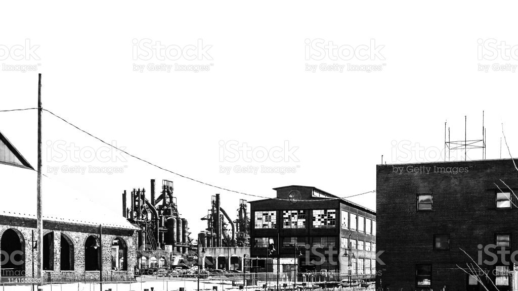 Old industrial buildings - Bethlehem, PA stock photo