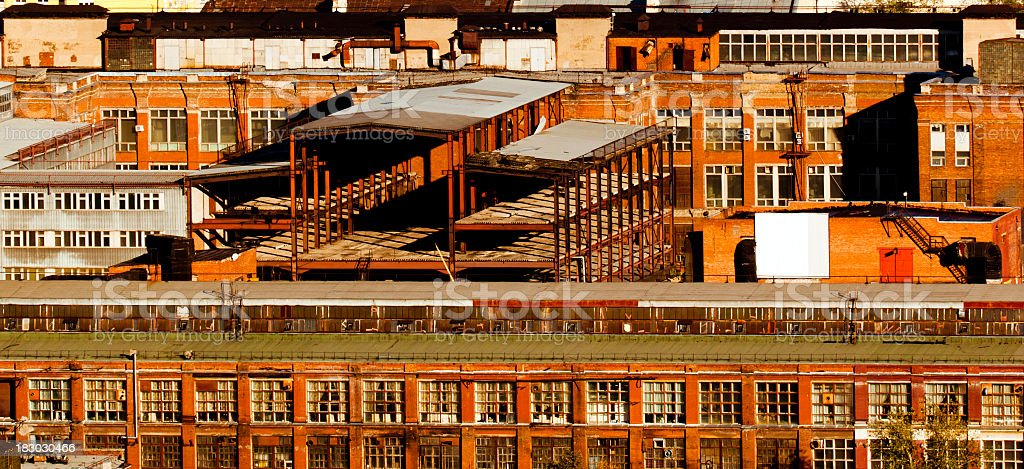 Old Industrial Buildings stock photo