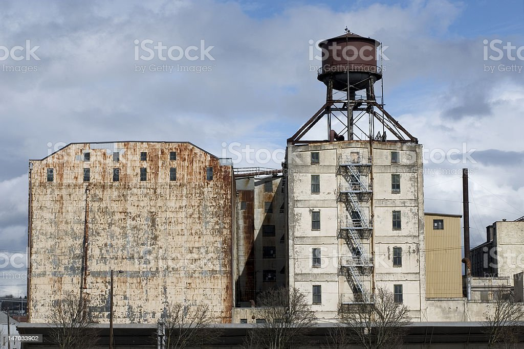 Old Industrial Plant stock photo