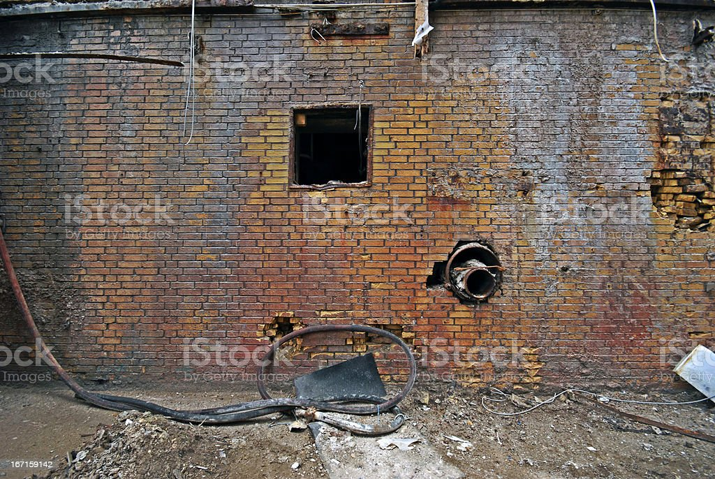 Old industrial wal royalty-free stock photo