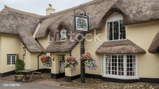 Old inn in the small village of Winsford in Exeter (England, United Kingdom)