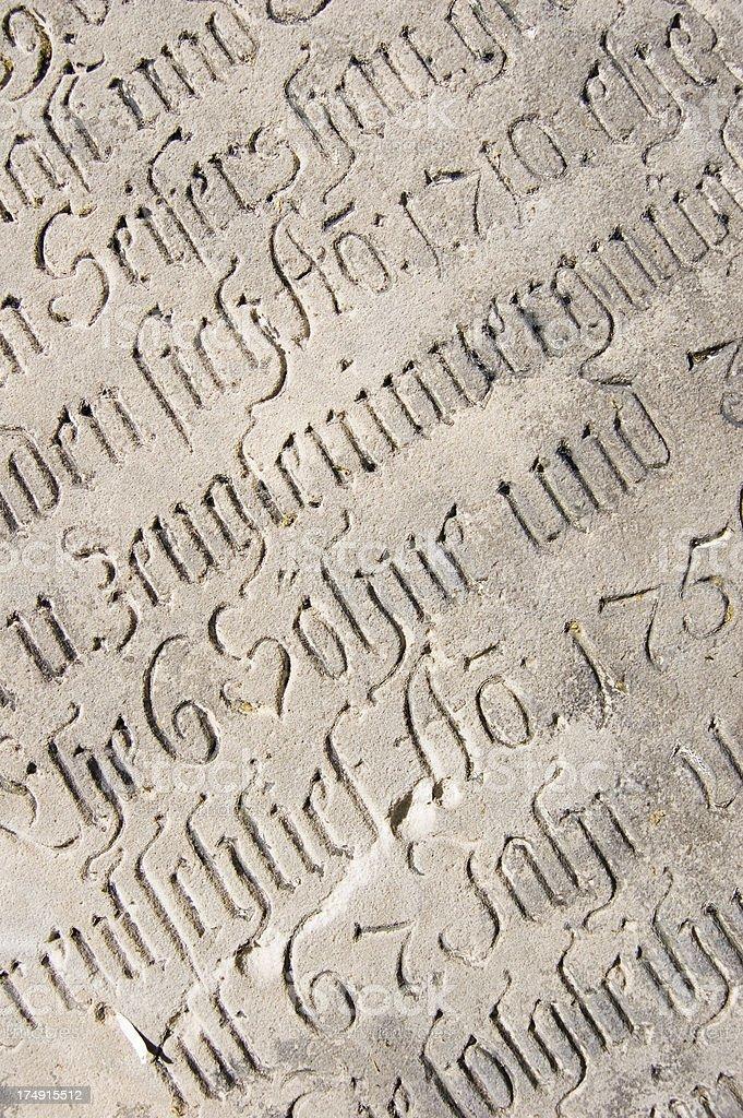Old Inscription royalty-free stock photo