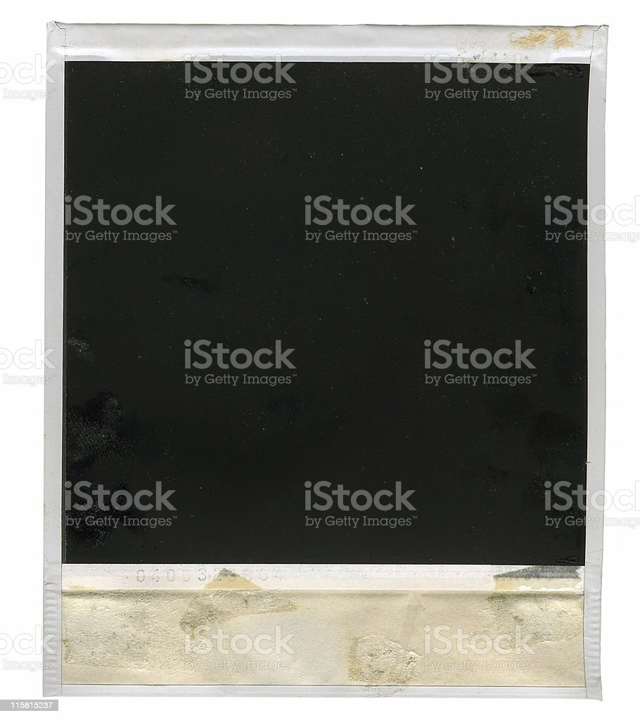 old instant photo - large royalty-free stock photo