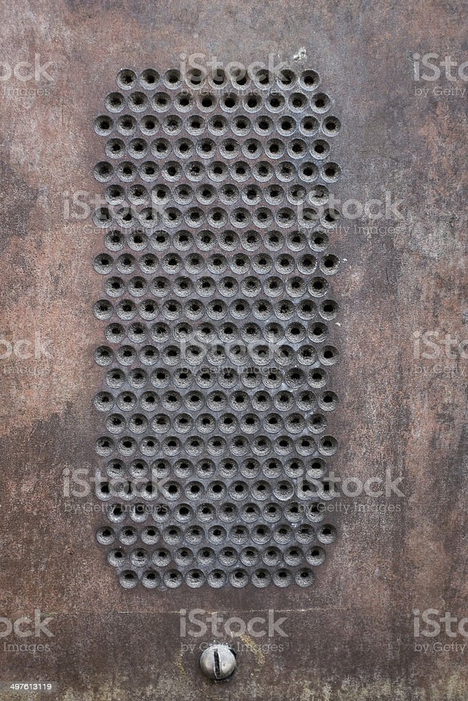 Old Intercom Speaker royalty-free stock photo