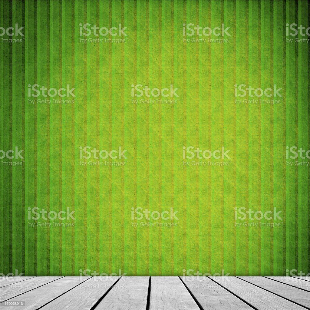 Old Interior Design With Vintage Grunge Wallpaper royalty-free stock photo
