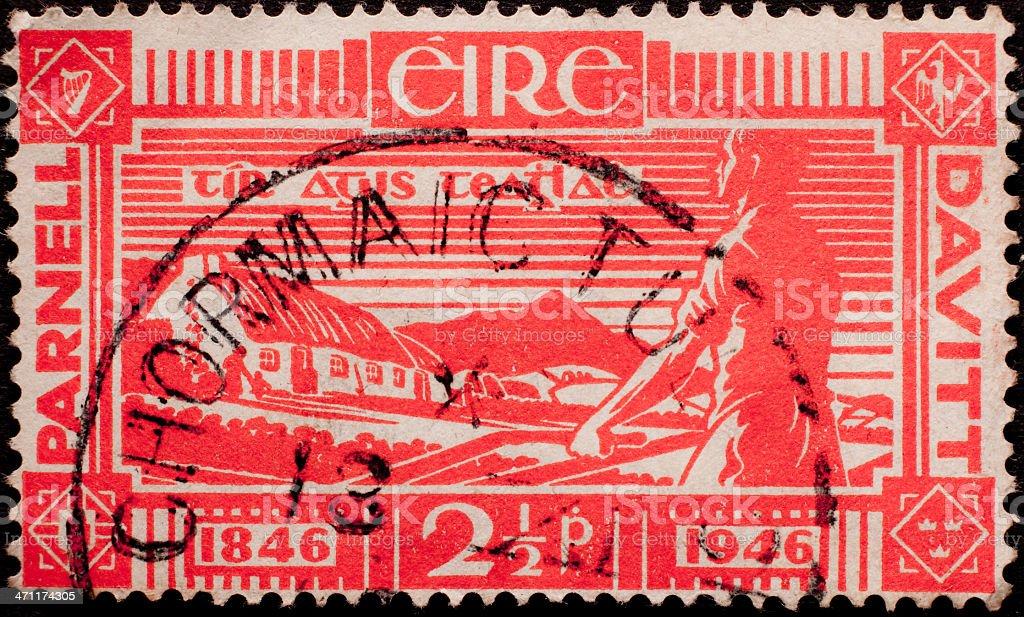 Old Irish Postage Stamp stock photo