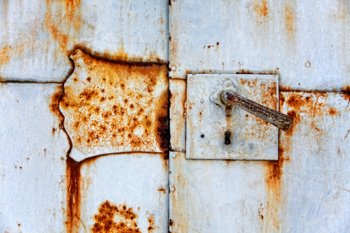 Detail of an old iron door. Developed with tonal contrast.