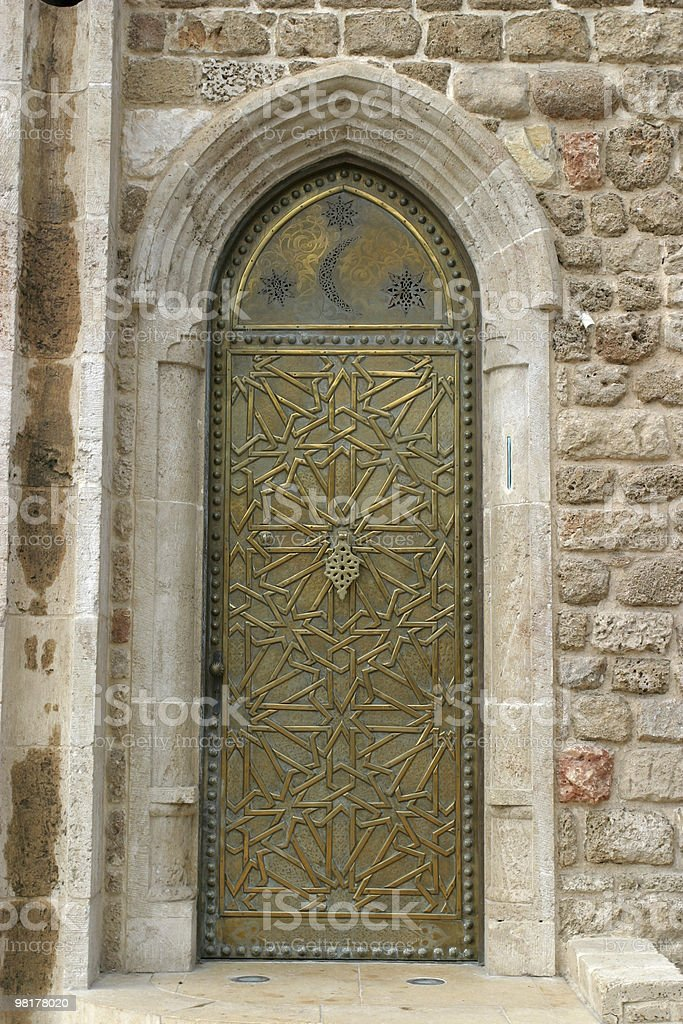 Old Iron Door royalty-free stock photo