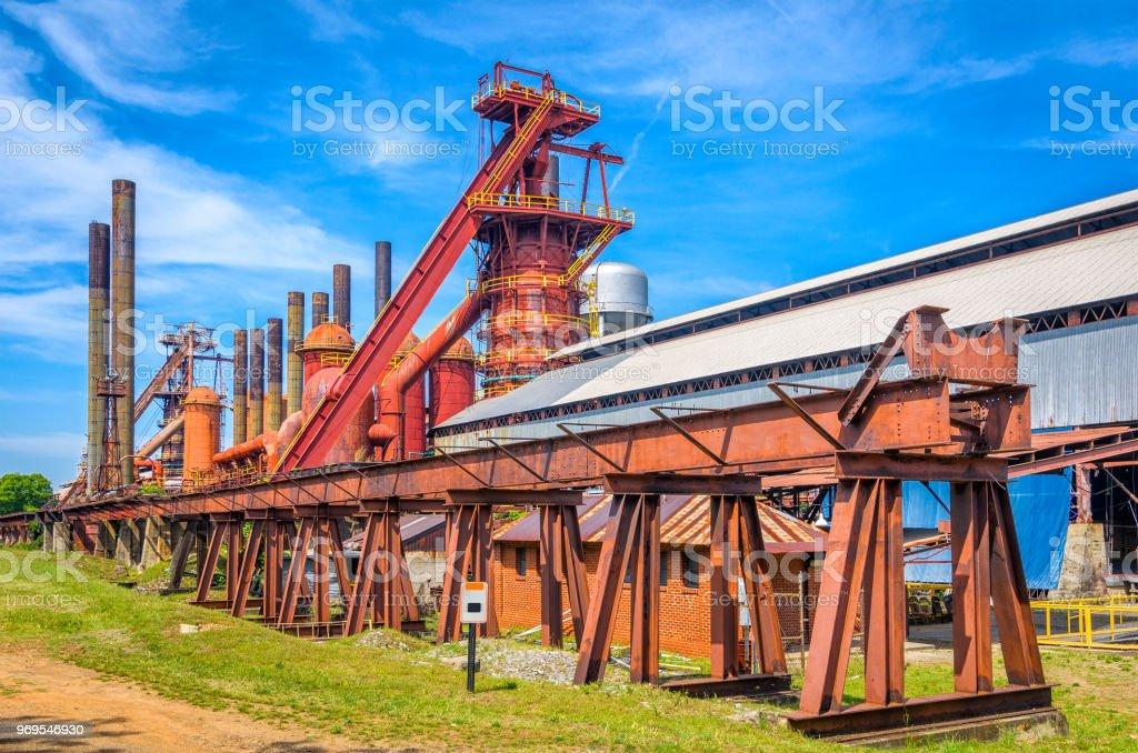 Old Iron Factory stock photo