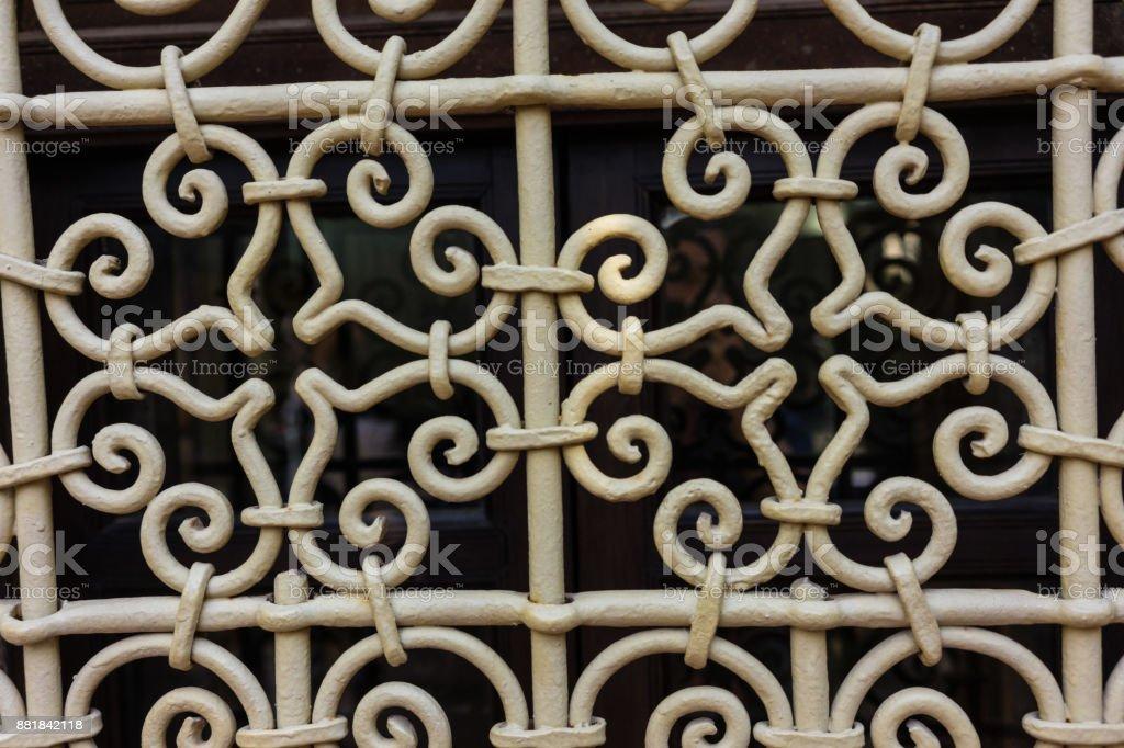 Altes Eisen Zaun Design Hautnah Blutenform Stock Fotografie Und Mehr