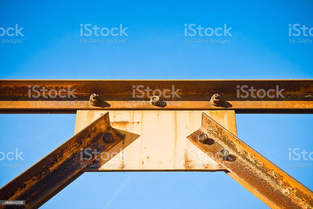 Old iron structure stock photo