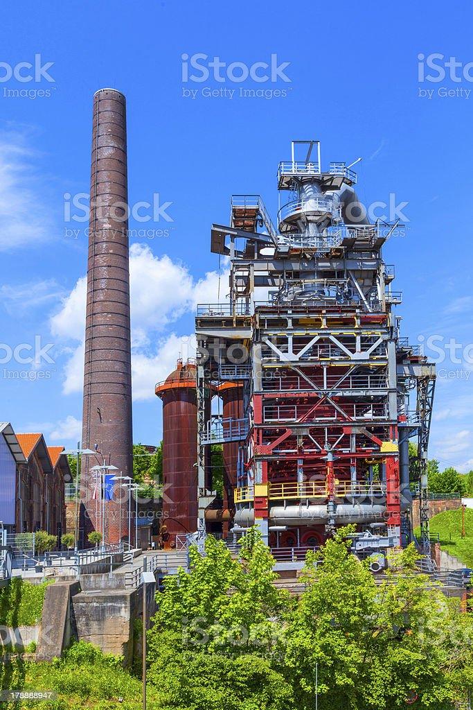 old iron works monuments in Neunkirchen stock photo