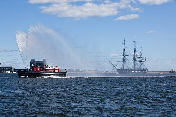 Best Fire Boat Stock Photos, Pictures & Royalty-Free Images