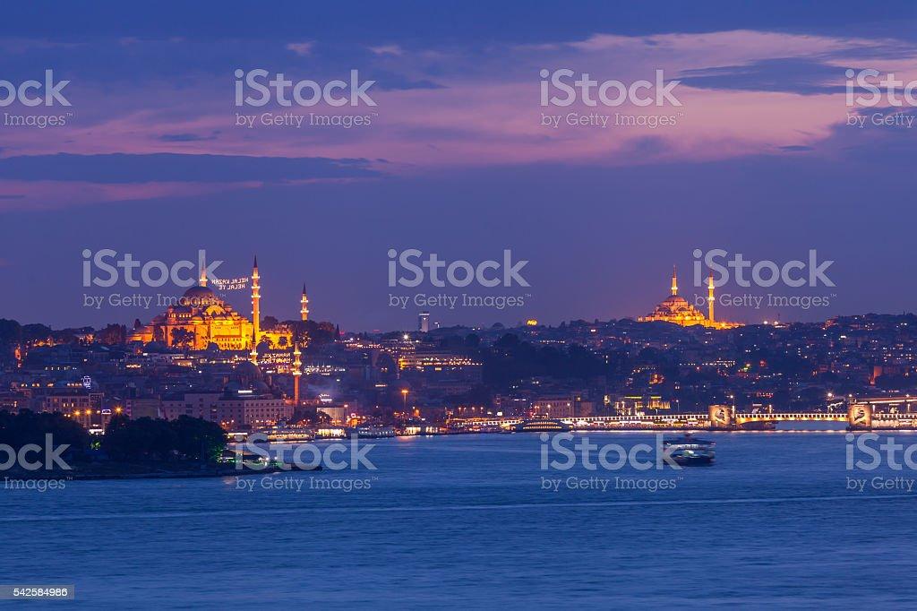 Old Istanbul landscape stock photo