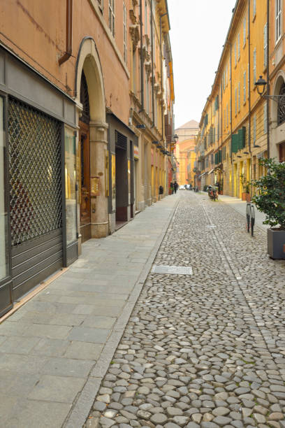 Old Italian Alley Background in Modena
